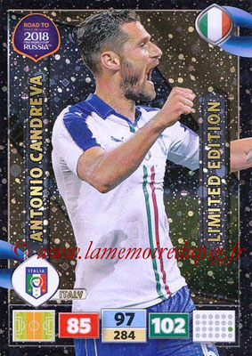 2018 - Panini Road to FIFA World Cup Russia Adrenalyn XL - N° LE-AC - Antonio CANDREVA (Italie) (Limited Edition)