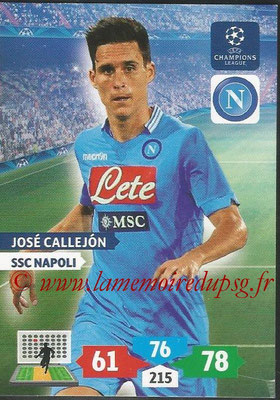 2013-14 - Adrenalyn XL champions League N° 196 - José CALLEJON (SSC Napoli)