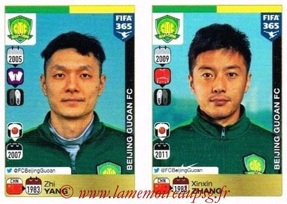 2015-16 - Panini FIFA 365 Stickers - N° 252-253 - Zhi YANG + Xinxin ZHANG (Beijing Guoan FC)