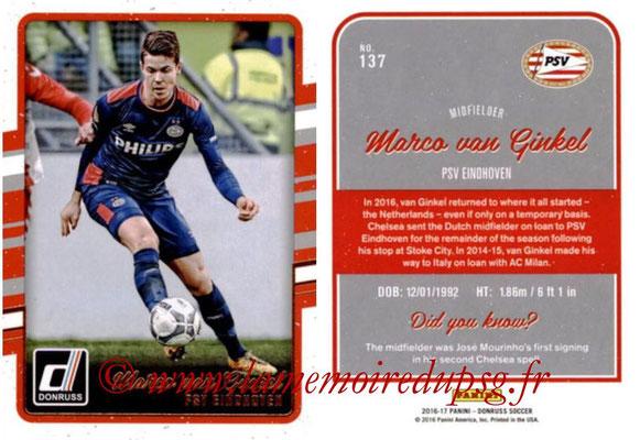 2016 - Panini Donruss Cards - N° 137 - Marco VAN GINKEL (PSV Eindhoven)
