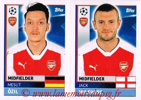 2016-17 - Topps UEFA Champions League Stickers - N° ARL 12-13 - Jack WILSHERE + Mesut OZIL (Arsenal FC)