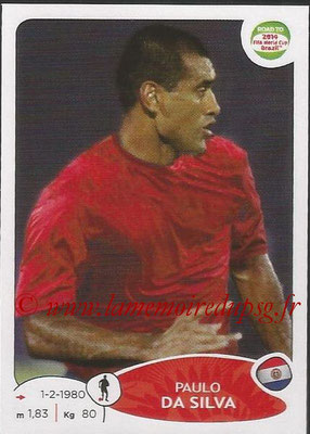 2014 - Panini Road to FIFA World Cup Brazil Stickers - N° 203 - Paulo DA SILVA (Paraguay)