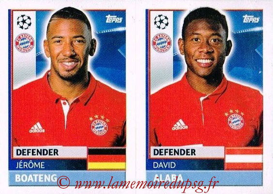 2016-17 - Topps UEFA Champions League Stickers - N° BMU 6-7 - David ALABA + Jérôme BOATENG (FC Bayern Munich)