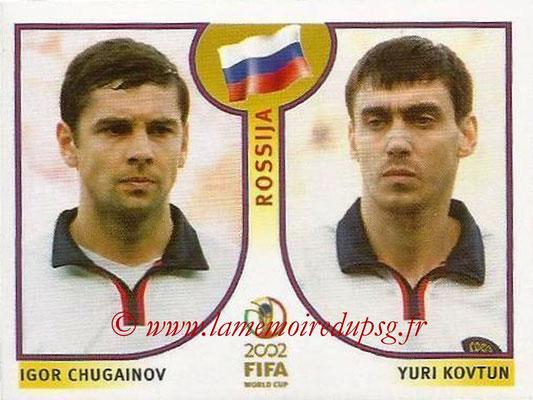 2002 - Panini FIFA World Cup Stickers - N° 523 - Igor CHUGAINOV + Yuri KOVTUN (Russie)