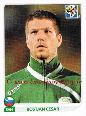 2010 - Panini FIFA World Cup South Africa Stickers - N° 242 - Bostjan CESAR (Slovenie)