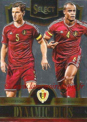 2015 - Panini Select Soccer - N° DD02 - Jan VERTONGHEN + Vincent KOMPANY (Belgique) (Dynamic Duos)