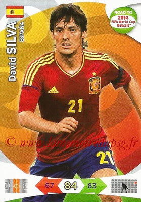2014 - Panini Road to FIFA World Cup Brazil Adrenalyn XL - N° 083 - David SILVA (Espagne)