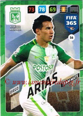 2017-18 - Panini FIFA 365 Cards - N° 056 - Diego ARIAS (Atletico Nacional)