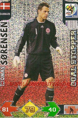 2010 - Panini FIFA World Cup South Africa Adrenalyn XL - N° 085 - Thomas SORENSEN (Danemark) (Goal Stopper)