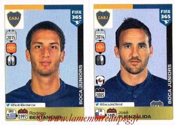 2015-16 - Panini FIFA 365 Stickers - N° 093-094 - Rodrigo BENTANCUR +José FUENZALIDA  (CA Boca Juniors)