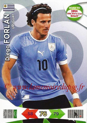 2014 - Panini Road to FIFA World Cup Brazil Adrenalyn XL - N° 188 - Diego FORLAN (Uruguay)