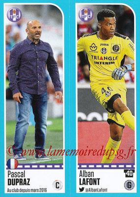2016-17 - Panini Ligue 1 Stickers - N° 806 + 807 - Pascal DUPRAZ + Alban LAFONT (Toulouse)