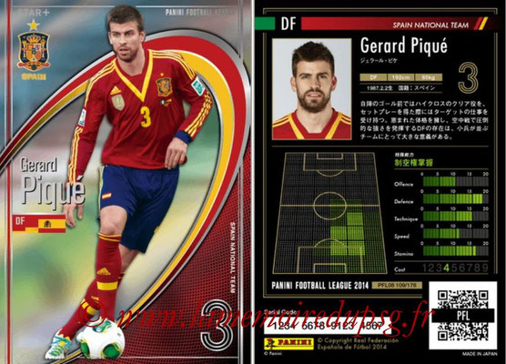 Panini Football League 2014 - PFL08 - N° 109 - Gerard PIQUE (Espagne) (Star +)