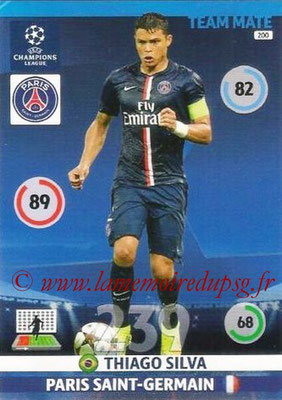 2014-15 - Adrenalyn XL champions League N° 200 - Thiago SILVA (Paris Saint-Germain)