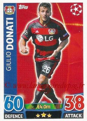 2015-16 - Topps UEFA Champions League Match Attax - N° 207 - Giulio DONATI (Bayer 04 Leverkusen)