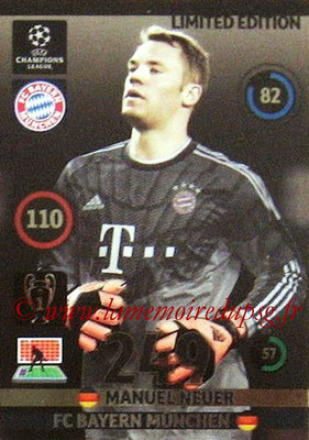 2014-15 - Adrenalyn XL champions League N° LE-MN - Manuel NEUER (Bayern Munich) (Limited Edition)