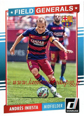 2015 - Panini Donruss Soccer - N° FG15 - Andrés INIESTA (FC Barcelone) (Field Generals)