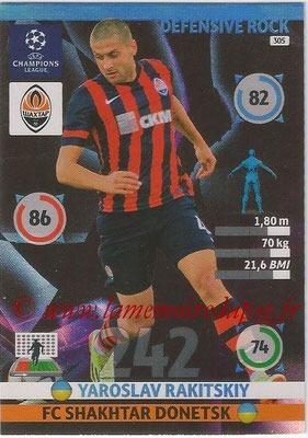 2014-15 - Adrenalyn XL champions League N° 305 - Yaroslav RAKITSKIY (FC Shakhtar Donetsk) (Defensive Rock)