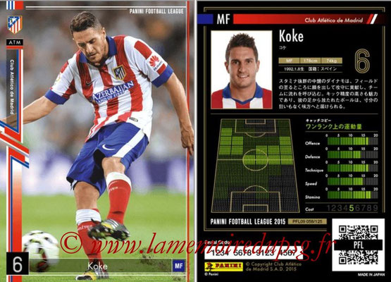 Panini Football League 2015 - PFL09 - N° 058 - KOKE (Atletico Madrid)
