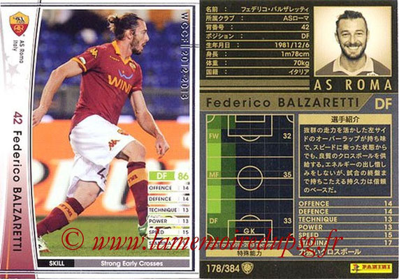 2012-13 - WCCF - N° 178 - Federico BALZARETTI (AS Roma)