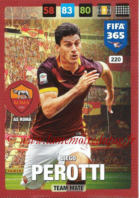 2016-17 - Panini Adrenalyn XL FIFA 365 - N° 220 - Diefo PEROTTI (AS Roma)