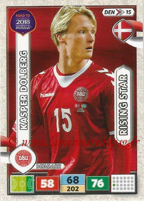 2018 - Panini Road to FIFA World Cup Russia Adrenalyn XL - N° DEN15 - Kasper DOLBERG (Danemark) (Rising Star)