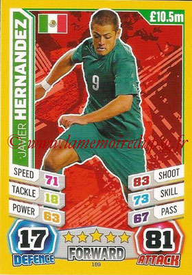 Topps Match Attax England 2014 - N° 169 - Javier HERNANDEZ (Mexique)