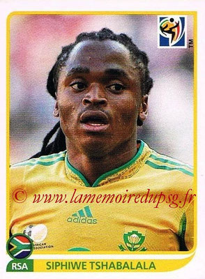 2010 - Panini FIFA World Cup South Africa Stickers - N° 042 - Siphiwe TSHABALALA (Afrique du Sud)