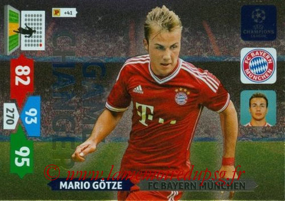 2013-14 - Adrenalyn XL champions League N° 337 - Mario GOTZE (FC Bayern de Munich) (Game Changer)