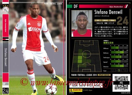 Panini Football League 2014 - PFL07 - N° 102 - Stefano DENSWIL (Ajax Amsterdam)