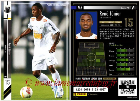 Panini Football League 2013 - PFL03 - N° 077 - Rene Junior (FC Santos)