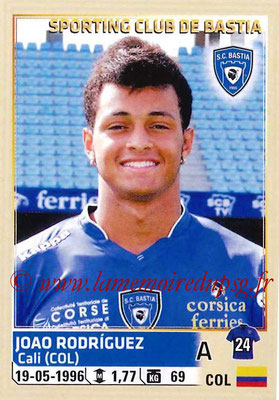 2014-15 - Panini Ligue 1 Stickers - N° 021 - Joao RODRIGUEZ (SC Bastia)