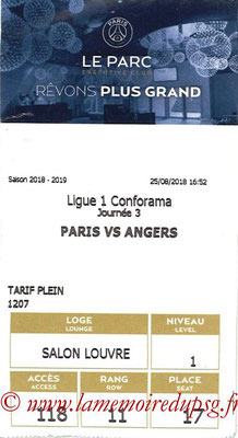 Tickets  PSG-Angers  2018-19