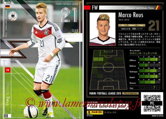 Panini Football League 2015 - PFL10 - N° 089 - Marco REUS (Allemagne)