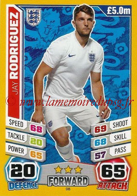 Topps Match Attax England 2014 - N° 098 - Jay RODRIGUEZ (Angleterre)
