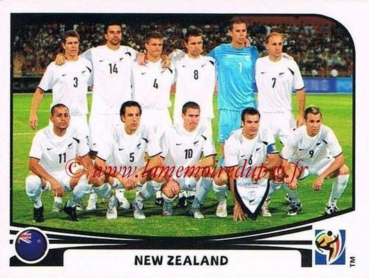 2010 - Panini FIFA World Cup South Africa Stickers - N° 448 - Équipe Nouvelle Zelande