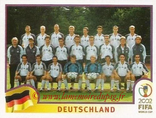 2002 - Panini FIFA World Cup Stickers - N° 313 - Equipe Allemagne