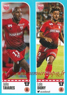 2016-17 - Panini Ligue 1 Stickers - N° 186 + 187 - Julio TAVARES + Loïs DIONY (Dijon)