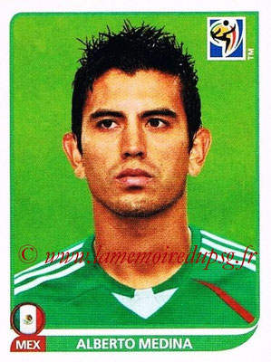 2010 - Panini FIFA World Cup South Africa Stickers - N° 059 - Alberto MEDINA (Méxique)