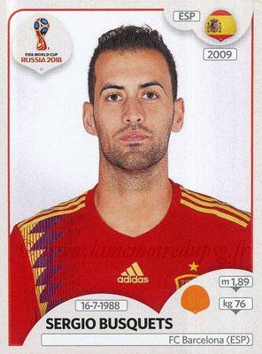 2018 - Panini FIFA World Cup Russia Stickers - N° 141 - Sergio BUSQUETS (Espagne)