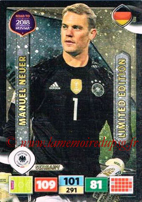 2018 - Panini Road to FIFA World Cup Russia Adrenalyn XL - N° LE-MN - Manuel NEUER (Allemagne) (Limited Edition)