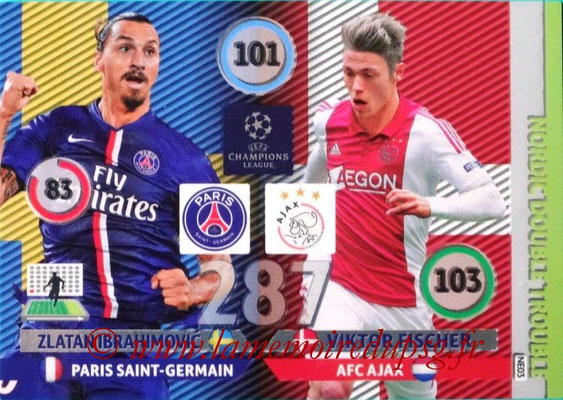 2014-15 - Adrenalyn XL champions League N° NE03 - Zlatan IBRAHIMOVIC (Paris Saint-Germain) - Viktor FISCHER (AFC Ajax) (Nordic Double trouble)