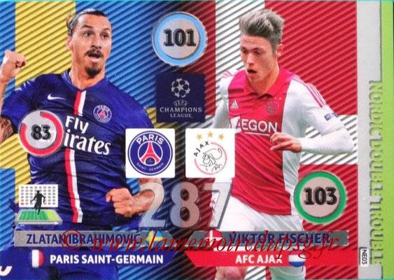 2014-15 - Adrenalyn XL champions League N° NE03 - Zlatan IBRAHIMOVIC (Paris Saint-Germain) - Viktor FISCHER (AFC Ajax) (Nordic Double trouble)