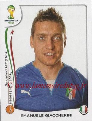2014 - Panini FIFA World Cup Brazil Stickers - N° 330 - Emanuele GIACCHERINI (Italie)