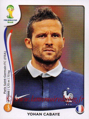 N° 384 - Yohan CABAYE (Jan 2014-2015, PSG > 2014, France)