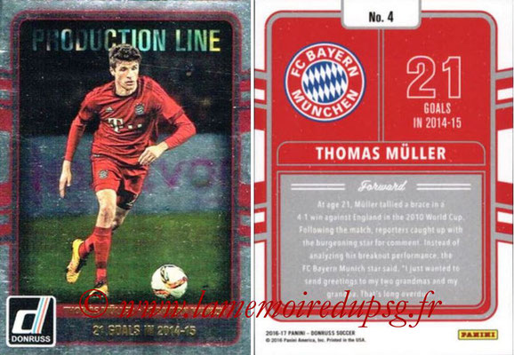 2016 - Panini Donruss Cards - N° PL04 - Thomas MÛLLER (FC Bayern Munich) (Production Line)