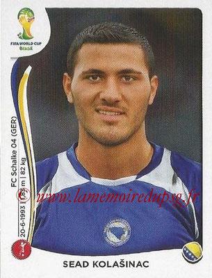 2014 - Panini FIFA World Cup Brazil Stickers - N° 438 - Sead KOLASINAC (Bosnie Herzegovine)