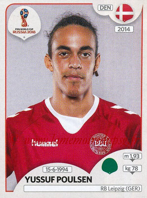2018 - Panini FIFA World Cup Russia Stickers - N° 270 - Yussuf POULSENV (Danemark)