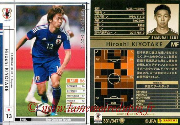 2015-16 - Panini WCCF - N° 331 - Hiroshi KIYOTAKE (Japon)