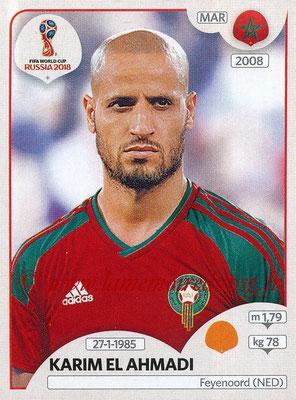 2018 - Panini FIFA World Cup Russia Stickers - N° 162 - Karim EL AHMADI (Maroc)